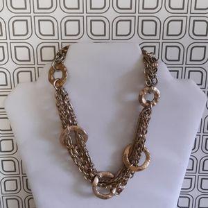 Vintage VCLM Goldtone Link Choker Necklace